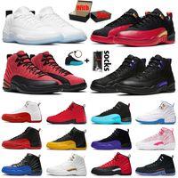 أحذية Nike Air Jordan Retro 12 12s Jumpman أحذية كرة السلة للرجال Jordans Low Easter Super Bowl High Utility Ice Cream Flu Game Dark Concord XII University Gold أحذية رياضية