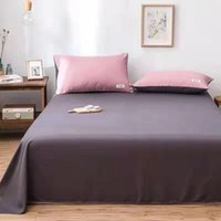 Sheets & Sets Washed Cotton Flat Sheet Solid Simple Bedspread Healthy Bed King Queen Home Textile
