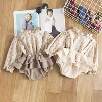 2Pcs Vintage Baby Girl Dress Clothes Set Summer Cotton Girls Floral Blouse Shirt Romper Spring Newborn Outfits #125