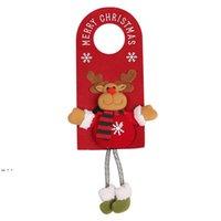 Merry Christmas Door Hanger Pendants Knob Xmas Non-woven Fabric Doors Handle Hangers Sign For Holiday Party Home Decor 50pcs DWD10894