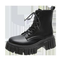 British Style Martin Boots Spring and Autumn Retro Thick Soled Women's Shoes Gjw80306