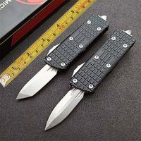 Micro Mini Messer Faltsame Blade Pocket Double Automatic Camping aus dem D2 Doppel-Action-Front-Front-Messer-Outdoor EDC-Messer