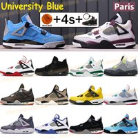 2019  4  New Bred 4 4S IV What The Silt Red Splatter Herren Basketballschuhe Denim Blau Eminem Pale Citron Sports Designer Sneakers 41-47