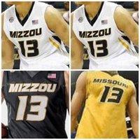 NCAA College Mizzou Missouri 호랑이 농구 유니폼 13 Mark Smith 14 Reed Nikko 15 Geist 23 Jeremiah Tilmon 24 Kevin Puryear Custom Stitched