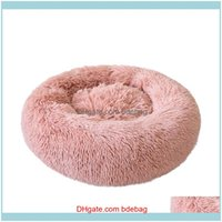 Supplies Home Garden80# Dog Long Plush Dounts Beds Calming Bed Hondenmand Pet Kennel Super Soft Fluffy Comfortable For Large   Cat House & F