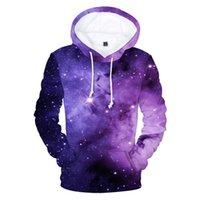 Новый 3D свитер с капюшоном для мальчиков и девочек Trend Blue Flame Horse Starry Sky Ослепительная цифровая печать