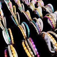 50sets lot Bulk lot 2mm Woman 3pcs Ring Sets 3 in 1 Women Elegance Charm Rings Female Fashion Jewelry Gold-Silver-Rainbow Wholesale lots