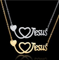 Pendant Necklaces European And American -selling Heart-shaped Necklace Ladies Wild Creative Religious Letter