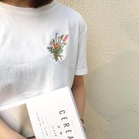 Women's T-Shirt Camisetas Mujer 2021 Summer Fashion Shirt Top Korean Ulzzang Harajuku Embroidery Floral Short Sleeve Women Basic Tshirt