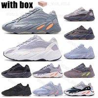 2021 Высочайшее качество 700 Kanye West Ring Обувь для мужчин Женщины Inertia Светоотражающие Тефра Сплошная серая Утилита Черный Vanta Спортивные кроссовки EUR 36-45