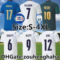 Italy Insigne Belotti Futbol Formaları 2020 Maillots De Foot Verratti Jorginho İmmobil Pirlo Bonucci El Shaarawy Futbol Gömlek