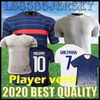 Spielerversion FFF 2 Sterne 20 21 Bule White Fussball Jersey Nationalmannschaft Pavard Varane Französisch 2020 2021 Männer Fußballhemd Camiseta de Futbol