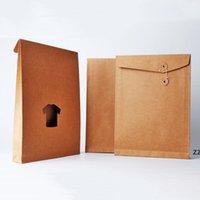 Ev Sundries Kraft Kağıt Torbaları A4 Dosya Klasörü Kalınlaşmış Teklif Personel Bilgileri Plastik Depolama Ofis Malzemeleri Giyim HWF9036