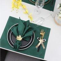 الجدول منديل 6PCS Eco النسيج النسيج ل decoupage الزفاف الديكور ماريق المسار على المفارش ساحة السكاكين