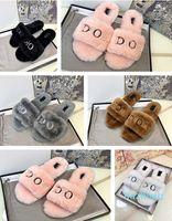 2021 Mujeres peludas zapatillas fluff síh diapositivas sandalia australia fuzzy soft house damas para mujer zapatos piel mullido sandalias mujer invierno sandal