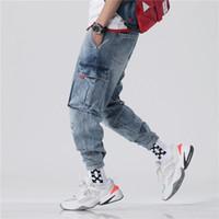 Jeans da uomo Primavera allentato grandi dimensioni Hallen Piccoli ragazzi Pantaloni a 9 punti Pantaloni buchi Nine-Point Trend GPRZ