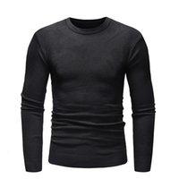 Мужские свитеры осень зима теплый мужской свитер пуловер вязаный свободную тягу Homme одежда повседневная твердая перемычка для мужчин азиатский размер