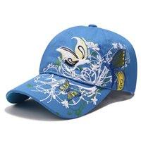 Lantejoulas de lantejoulas de bordado bordado bordado bordado borboleta borboleta imprime maré feminino chapéu de moda é prevenido se aquecer no chapéu de sol