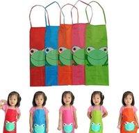 لطيف الاطفال الطفل الأطفال للماء المئزر الكرتون الضفدع المطبوعة فتاة بوي جميل اللوحة الطبخ 5 اللون المتاحة
