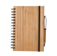 دفتر دفتر الخشب الغطاء الخشب الخشب مع قلم طالب البيئية المفكرة بالجملة اللوازم المدرسية EWA6434