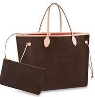새로운 뜨거운 브랜드 쇼핑 클래식 패션 디자이너 가방 여성의 Hight 가방 핸드백 럭셔리 디자이너 Neverfull 정품 가죽 대형 숙녀 용량 품질 32cm 40cm