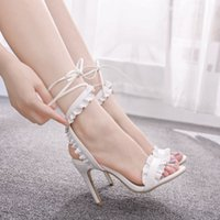 Sandals Girl high heels crystal queen sandals, summer fashion design, nine centimeters, open-toed shoes. C5PR