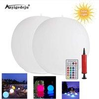 Солнечные лампы RGB 16 Цветные светодиодные фонари Плавающий бассейн Лампа IP67 Водонепроницаемый мяч Освещение ванны Ночные игрушки на открытом воздухе