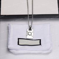 Männer Luxus Designer Schmuck Womens Designer Halskette Schädel Muster Ketten Pendent Herren Ghost Halsketten Partyzubehör Silber Halskette