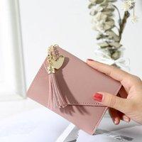 Wallets Fringe Purse Female Short Multi-functional Large Capacity Students Simulation Leather Cute Fashion Zipper Folding Small Wallet