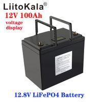 Liitokala 12V 100A BMS 1200W 백업 전력 인버터 RV 보트 MPPT 태양 AGV 용 100A BMS 4S 12.8V가있는 LiFePO4 배터리