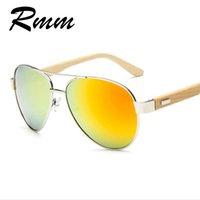 Occhiali da sole RMM Donna Multi-Layer Bamboo Bamboo Polarizzato Men Brand Designer UV400 Eyewear Occhiali da sole oculos