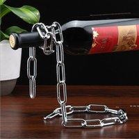 Titulaire de bouteille de vin rouge Produits de barre de la bouteille créative Suspension de la corde Chaîne de la chaîne de support Cadre d'ameublement de maison Ornements EWD6024