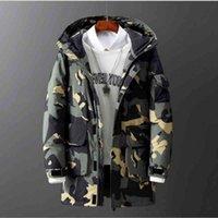Giacca da uomo di marca di lusso Uomo Utensili da uomo Down Giacche Casual Camouflage Colore solido Abbigliamento per uomo Abbigliamento invernale Addensare caldo Cappotti per uomo da esterno caldo