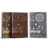 Retro Dizüstü Yazma Dergisi Kabartmalı Tren Seyahat Günlük Not Defteri Ciltli Günlüğü Nefis Kitap Hediye A5 Çizgili XBJK2104