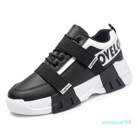 Discount luxury designer Casual ace men Shoes Lace-up White Black Two-tone Rubber Sole factory sneaker size 39-44 for male sport with good