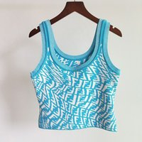 2020 Womens Fitness Weste Frühling und Sommer Hohe Qualität Damen T-Shirt Tanks Camis Panzer Cami Casual Atmungsaktive Außergewebe Gestrickte Jacquard Brief Hosenträger