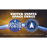 Großhandel Fabrik Preis auf Lager 3x5FT 90x150 cm Hanging ussf-Flagge Vereinigte Staaten Weltraumwaffe und Banner für Outdoor Dekoration DHB6013