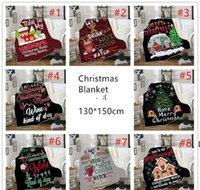 Christmas Blanket kids 3D printing Thick Sherpa Fleece blankets Soft Warm sofa throw blanket sleeping Quilt blanket 130*150cm RRB10968