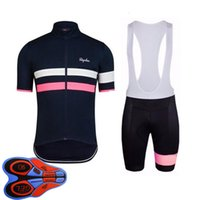 Rapha Team Herren Radfahren Kurzarm Jersey BIB Shorts Set ROPA CICLISMO MAILLOT MTB Bike Kleidung Rennraum Outfits Outdoor Fahrrad Uniform S21041421