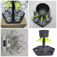 6 S Glass Dispenser Holder Party Beverage Drinking Bar Accessories Wine Whisky Beer Rack with 6 Cups Sea Ship Rra4110