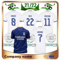 21/22 Spielerversion Real Madrid Fussball Jersey 2021 Home Hazard Kroos Modric Sergio Ramos Maillots de Football Hemd Benzema Marcelo Asenssio Isco Uniform