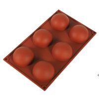Maldas esfera de silicona Moldes de jabón de silicona Herramientas de decoración de pasteles Pudín Jelly Chocolate Fondant Molde Forma de bola Tool Herramienta HWE6571