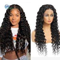 Brasiliano 13x4 frontale 10a grado di grado anteriore del pizzo di pizzo anteriore di hu capelli s 250 densità parrucca precipitata per le donne nere