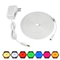 Strips 120 LEDs / M Neon LED Strip / Lights / Lâmpada para sala de parede Cozinha impermeável DC12V com UE US PLUTE Backlight Interruptor Luz