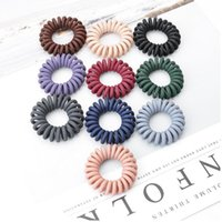 Frosting Telephone Wire Line Gum Elastic Hair Band For Girl Rope candy color Tie Hair Ring Rops Women Headdress Tool