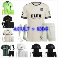 Homens + Kids Kit 20 21 Los Angeles FC Soccer Jerseys Chicharito Lafc Galáxia Rossi Vela 2021 2022 Inter Miami CF Beckham Pizarro Camisas de futebol