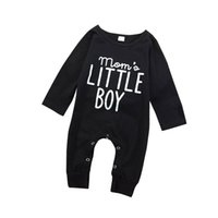 Bebê romper preto letra impresso crianças macacão infantil bebê meninos manga longa toddler bonito bebê infantil menino designer roupas fj151 103 y2