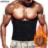 Erkek Vücut Şekillendirme UEFEZO Bel Eğitmen Korse Erkekler Neopren Şekillendirici Karın Kontrol Kemer Sauna Ince Kayış Fitness Ter Shapewear Yağ Burner