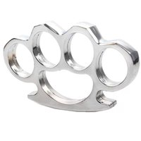 LRKC Gilded Thick 1M Acero Brass Knuckle Duster Color Black Plating Sier Hand Tool Clutch High Qlity 4 5QD W-12