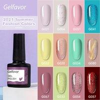 Vernis à ongles Gelfavor 8ml brillant permanent trempe de salon UV Gel Art de la laque Top Base Coat Based Vernis